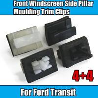 8x Clips For Ford Transit V184 Front Windscreen Side Pillar Moulding Trim 4+4