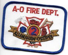 "Altamahaw-Ossipee  Fire Dept., North Carolina (4"" x 3"" size) fire patch"