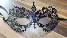 Masquerade Maschera veneziana metallo filigrana Black Ball Prom Party Discoteca Halloween