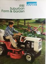 Montgomery Ward 1981 Suburban Lawn Farm Mini-Catalog COLOR Garden Tractor Gilson
