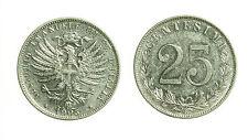 pci3025) Vittorio Emanuele III  (1901-1943) 25 Centesimi Valore NICHELIO 1903