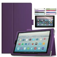 Folio Case Stand Cover for All-New Amazon Kindle Fire 7 HD 8 HD 10 Tablet Case