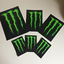 6 Monster Energie, Energy, Aufkleber im Set, Sticker, Motorrad, Auto, Racing