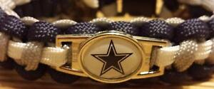 NFL Dallas Cowboys Paracord Bracelet with Charm  (Cobra Weave)