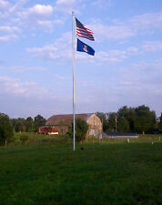 "25' ft. Aluminum Flagpole 25' X 4"" X .125"" External Halyard Flag Pole Usa Made"