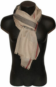 Pashmina Scarf Man Woman Check Scottish Black Red Beige S
