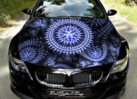 Abstract Car Bonnet Wrap Decal Full Color Graphics Vinyl Sticker Fit Any Car 113
