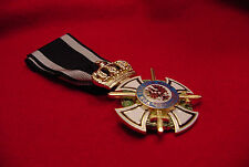 GERMAN EMPIRE/PRUSSIA - WWI - ROYAL HOUSE ORDER OF HOHENZOLLERN KNIGHT W/SWORDS