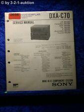 Sony Service Manual DXA C70 Mini Hifi Component System (#2656)