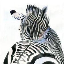 Giclee PRINT Zebra Africa Wildlife Zoo Painting Art Watercolor Safari Nursery