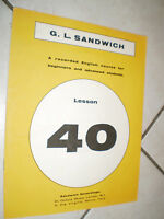 FASCICOLO G.L. SANDWICH recorded ENGLISH N. 40 course for beginners and students