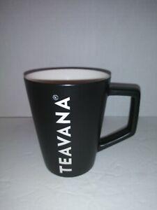 Starbucks 2016 Teavana Black W/white Lettering Porcelain Mug
