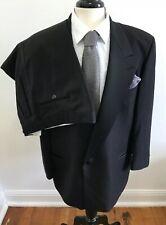 Hugo Boss Satin Peaked Lapel Designer Tuxedo Wool Suit Size 40R / 42R
