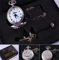 Fullmetal Alchemist Pocket Watch + Necklace + Ring Cosplay Set in Box -Xmas Gift