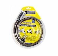 New Steel Security Lawn Bike U Lock and Cable, Heavy Duty PVC Coating with 2 Key