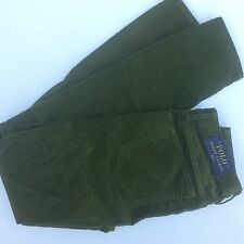 Polo Ralph Lauren Tompkins Skinny Corduroy Olive Branch Size 2 NEW MSPR $145