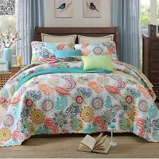 100% Cotton Coverlet Floral BedSpreads Patchwork Queen/King Size Paisley Quilted