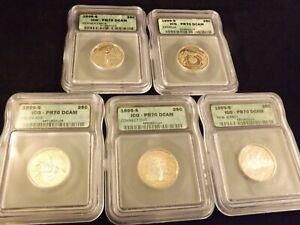 1999 -S    Quarter   5 Coin Set            ICG  PR 70 DCAM