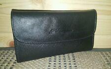 BLUMARINE Soft Leather Checkbook Card Wallet Clutch