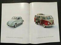 1962 Volkswagen Beetle Bug Van Station Wagon Bus Photo 2 Page Vintage Print Ad