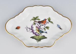 Herend (Hungary) Porcelain Pin Dish In Rothschild Bird Pattern 7737/RO
