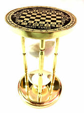 Antique maritime laiton Sable Minuterie HANDMADE CHESS Sablier nautique Table Decor