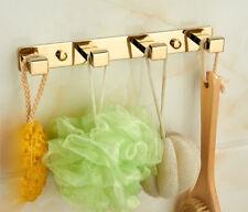 Brass Wall Mount Hook Hanger Bath Towel Clothes Bathroom Accessories Holder Gold