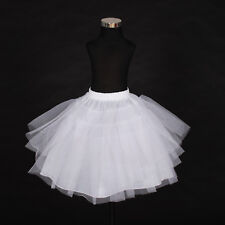 Flower Girl Bridesmaid 4 layer White Underskirt Petticoat One Size