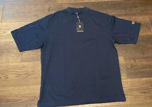Nike Tiger Woods Collection Mock Collar Golf Shirt XL Blue MSRP $55 NWT