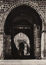 1925 Vintage JERUSALEM Temple Arch People ISRAEL Palestine Religious Photo Art