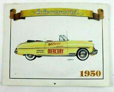 Auto Memories 1950's Car Calendar Mercury, Ford, Studebaker, Dodge -Repro. NOS
