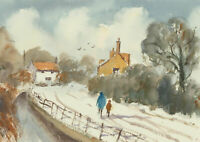 John A. Case - Set of Two Contemporary Watercolours, Winter Landscapes