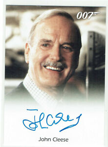 James Bond Archives 2009 Autograph Card John Cleese as Q in Die Another Day
