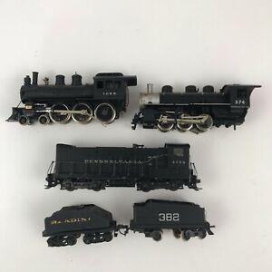 HO Scale Model Lot Steam Locomotives & Coal Cars Parts or Restoration Repair