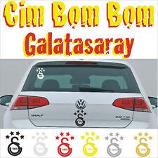 Galatasaray Autoaufkleber Sticker ultraslan Cim bom GS Fan 10 x 14,7 cm