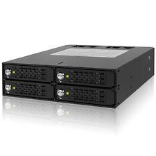 ICY DOCK ToughArmor MB994SK-1B 4 Bay 2.5 SATA/SAS SSD/HDD 5.25 Mobile Rack Lock