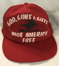 old vint red Winchester hat cap
