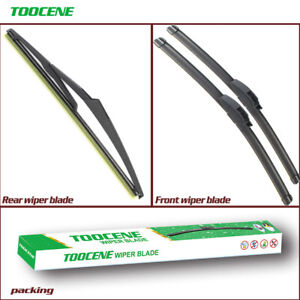 Front And Rear Windshield Wiper Blades for Mini Cooper R56 Hatchback 2007-2012