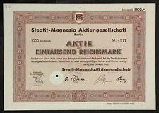 GERMANY 912/G&K -Steatit-Magnesia Aktiengesellschaf, 1,000 RM 1942 Berlin