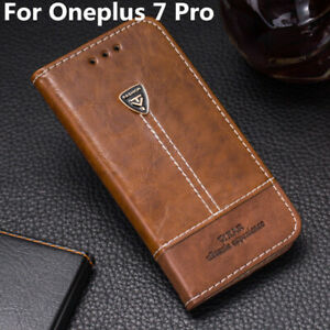 Case For Oneplus 7 Pro Pu Leather Cover Wallet Flip Stand Card Holder Phone Bag