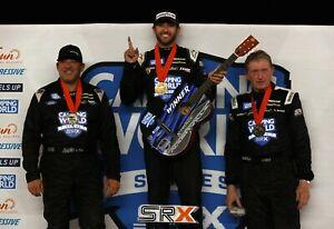 NASCAR SUPERSTAR CHASE ELLIOTT WINS SRX RACE IN NASHVILLE  8X10 PHOTO W/BORDERS