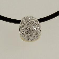 Anhänger  in  585/- Gelb/Weißgold  mit  28 Diamanten  ca 0,28 ct Crystal si