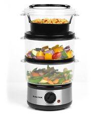 Salter 7.5 Litres Healthy Cooking 3 Tier Food Steamer Food Rice Meat Vegetables