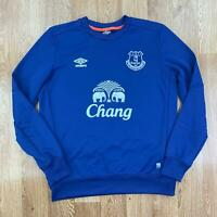 UMBRO Mens EVERTON FC Training Sweatshirt | Football Toffees Sport | Large Blue