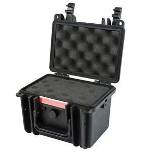 "8"" Waterproof Hard Case Dry Box Travel Shockproof Camera Lens Customizable Foam"