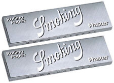 2 Pack Smoking Silver Master 1.25 Rice Cigarette Rolling Paper 100 Leaves 3114-2