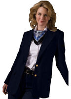 Edwards Garment Women's Single Breasted Gold Two Button Hopsack Blazer. 6830