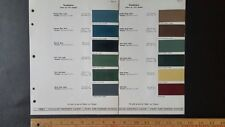 1941 STUDEBAKER  - Original Exterior Color Chips - Paint Color Samples