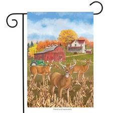 "Fall Deer Garden Flag Countryside Farmhouse Meadow 12.5"" x 18"" Briarwood Lane"