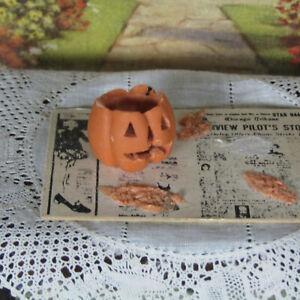 Dollhouse ARTISAN PUMPKIN CARVING Miniature Handmade Food HALLOWEEN DECORATION